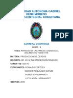 PERIODO DE LACTANCIA-CERDOS