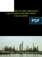 PIPE THICKNESS & PIPE SIZING CALCULATION