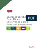 Comptia a 220 1001 Exam Objectives Brz Portuguese