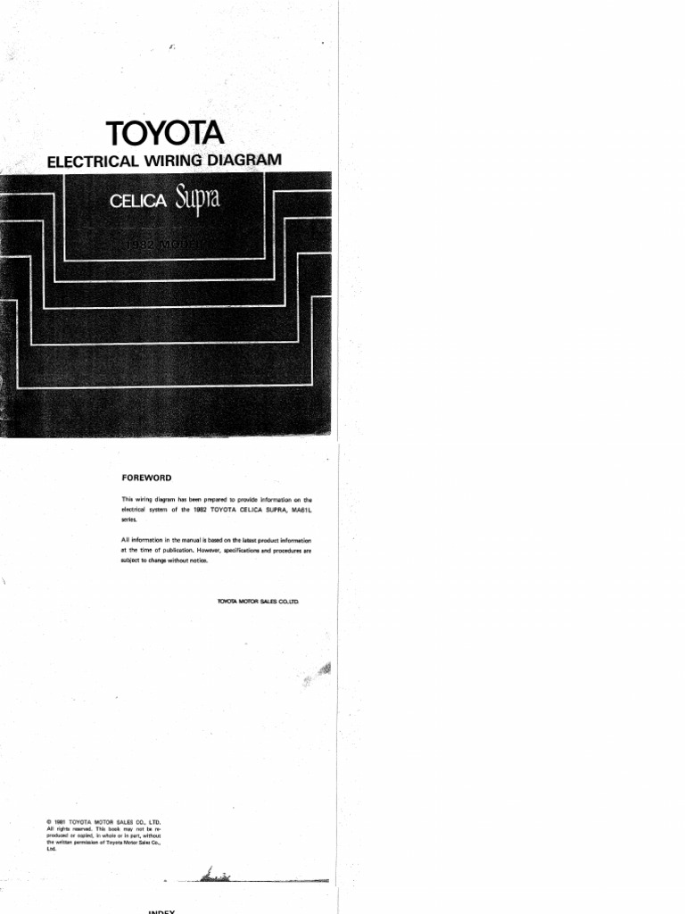 1982 Supra Electrical Wiring Diagrams