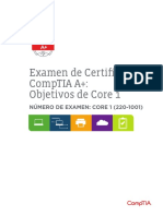 Comptia a 220 1001 Exam Objectives Spanish