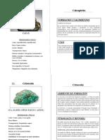Minerales y sus propiedades
