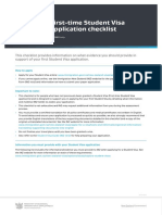 First-time Student Visa application checklist