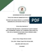 Análisis para mejorar la gestión de talento humano en el desempeño laboral de la empresa Sidelcorsa cía. Ltda. En la ciudad de Guayaquil en el peri.pdf