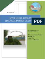 power station mangla internship report
