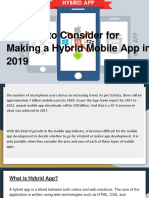 7 Points to Consider for Making a Hybrid Mobile App in 2019