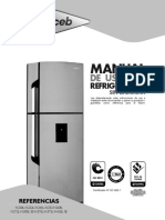 Haceb Assento F 420L SE 2P DA TI Fridge-Freezer