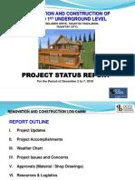 Woodlands Weekly Report No. 07 as of Dec. 2 - 7, 2019