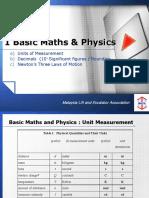 1 Basic Maths & Physics a B C