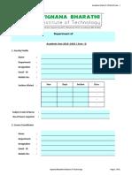 Academic Plan 2019-20 Sem 1