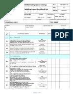 Pre Welding Checklist