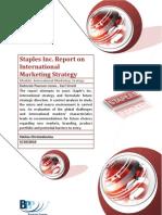Staples International Strategy Report