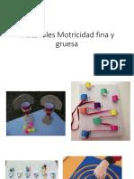 Materiales Motricidad Fina y Gruesa