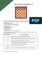 King Pawn Openings Part 1