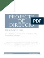PROJECTE DIRECCIÓ 2020-2024