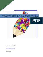CURSO TRASTORNO DE LA ESCRITURA