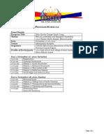 Bidahan 2010 Program Schedule