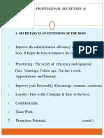 Role of a Professional Secretary