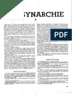 La Synarchie in Les Documents Maçonniques