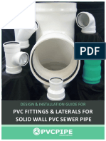 Design Installation Guide for Pvc Fittings Laterals for Solid Wall Pvc Sewer Pipe