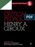 (Critical Pedagogy Today 1) Henry A. Giroux - On Critical Pedagogy-Continuum (2011).pdf