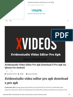 Xvideostudio Video Editor Pro Apk Download X Pro Apk 199apk Ios Information Appliances