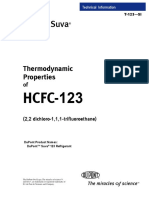 Thermodynamic Properties of HCFC-123