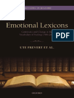 Emotional lexicons. Continuity and change in the vocabulary of feeling 1700-2000