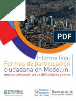 Investigación sobre las formas de la participación ciudadana en Medellín