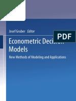 Economic Decision models