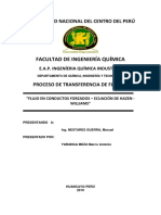 Informe Ec Hazen Williams