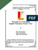 STRATEGIES FOR TRANSLATING PASSIVE VOICE - Phạm Thị Mỹ Bình- Nguyễn Thu Hương- Nguyễn Thị Mai Thanh