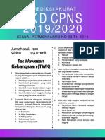 01. Prediksi Soal SKD CPNS CAT 2019-2020 Full Pembahasan