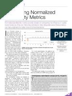 Interpreting Normalized Profitability Metrics