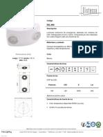 Distecsa - Ficha Técnica Luminaria de Emergencia NewLighting
