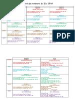Agenda Da Semana Do Dia 21 a 25.10