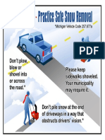 Safe Snow Removal Graphic