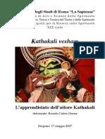 Kathakali vesham - L'apprendistato dell'attore Kathakali