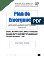 PLAN DE EMERGENCIA OFICIAL