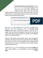 Cara Mengatasi IDM yang di Block Atau Fake Serial Number.docx