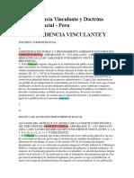 Jurisprudencia Vinculante y Doctrina Jurisprudencial