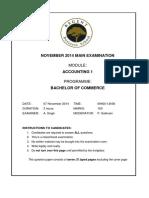 NOV 2014 exam