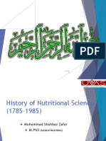 Nutritional sciences history