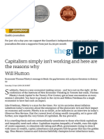 Capitalism simply isn't working and here are the reasons why _ Will Hutton _ Opinion _ The Guardian