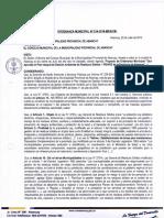 ORDENANZA MUNICIPAL N° 014-2016-MPA-CM.