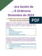 Tercera Sesión de CTE Ordinario Diciembre de 2019 Adecuado