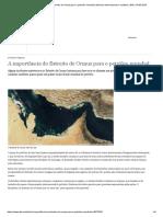 A Importância Do Estreito de Ormuz Para o Petróleo Mundial _ Notícias Internacionais e Análises _ DW _ 14.05.2019