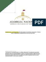 PROYECTO DE  LEY APROBATORIA DEL MECANISMO DE ASISTENCIA FINANCIERA Y TÉCNICA ANTE LA EMERGENCIA HUMANITARIA DEL SECTOR