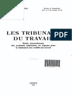 1938 Bureau International du Travail. Les Tribunaux du travail. Etude internationale des systèmes judiciaires en vigueur
