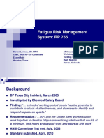Fatigue Risk Management System RP 755Steve Lerman ExxonMobil
